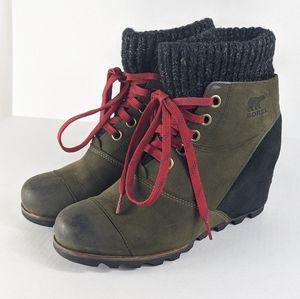 Sorel Joanie Sweater Wedge Boots